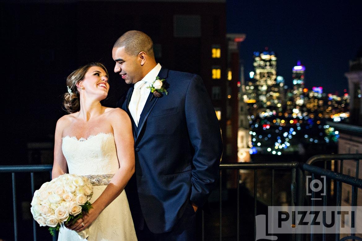omni parker hotel wedding boston skyline wedding