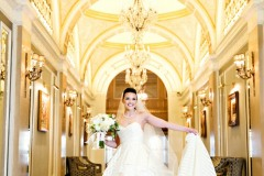 bride-dress-hallway-fairmont-copley