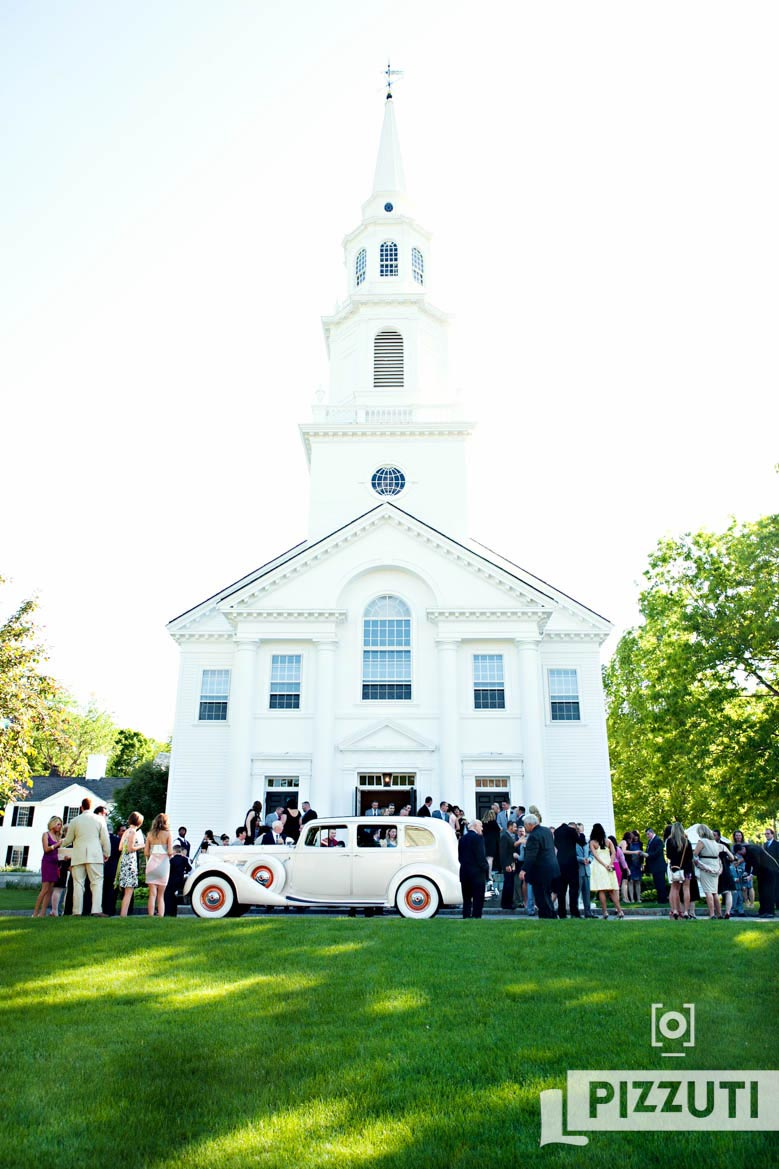 wedding-guests-church-Concord-antique