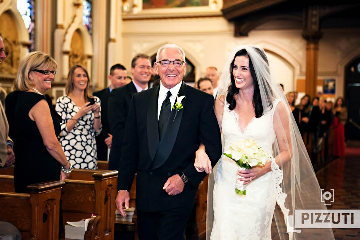 Wedding Ceremony - Bride With Dad
