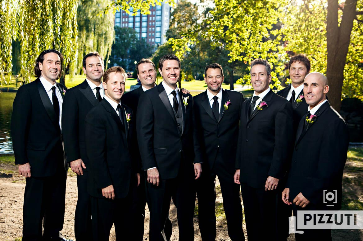 Groomsmen - Boston Public Gardens