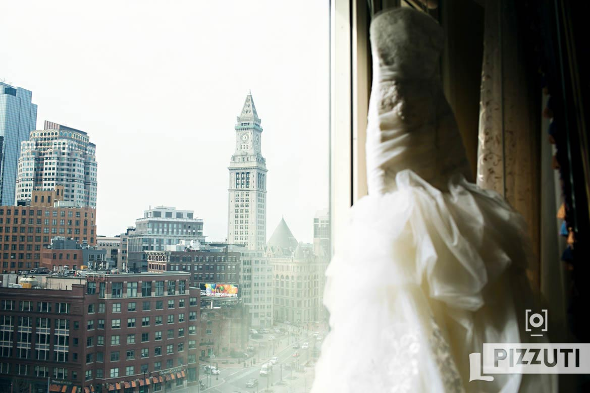 Wedding Dress Boston Harbor Hotel