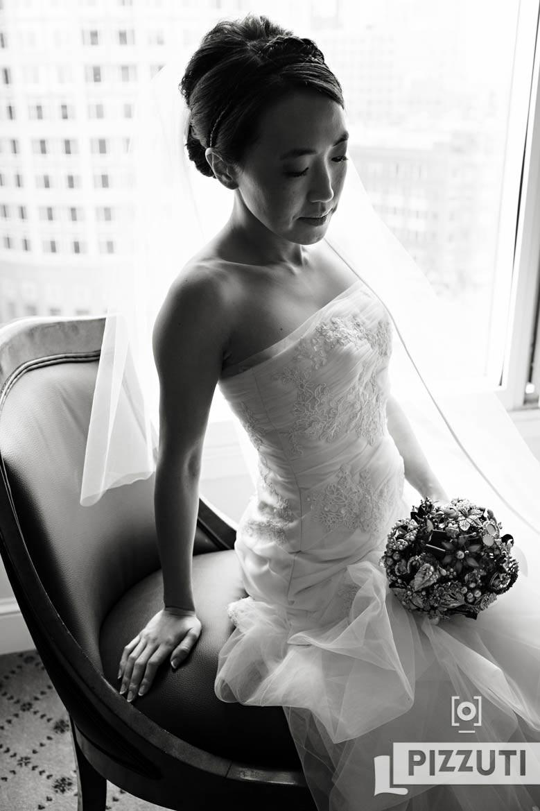 Boston Harbor Hotel Wedding Bridal Portrait