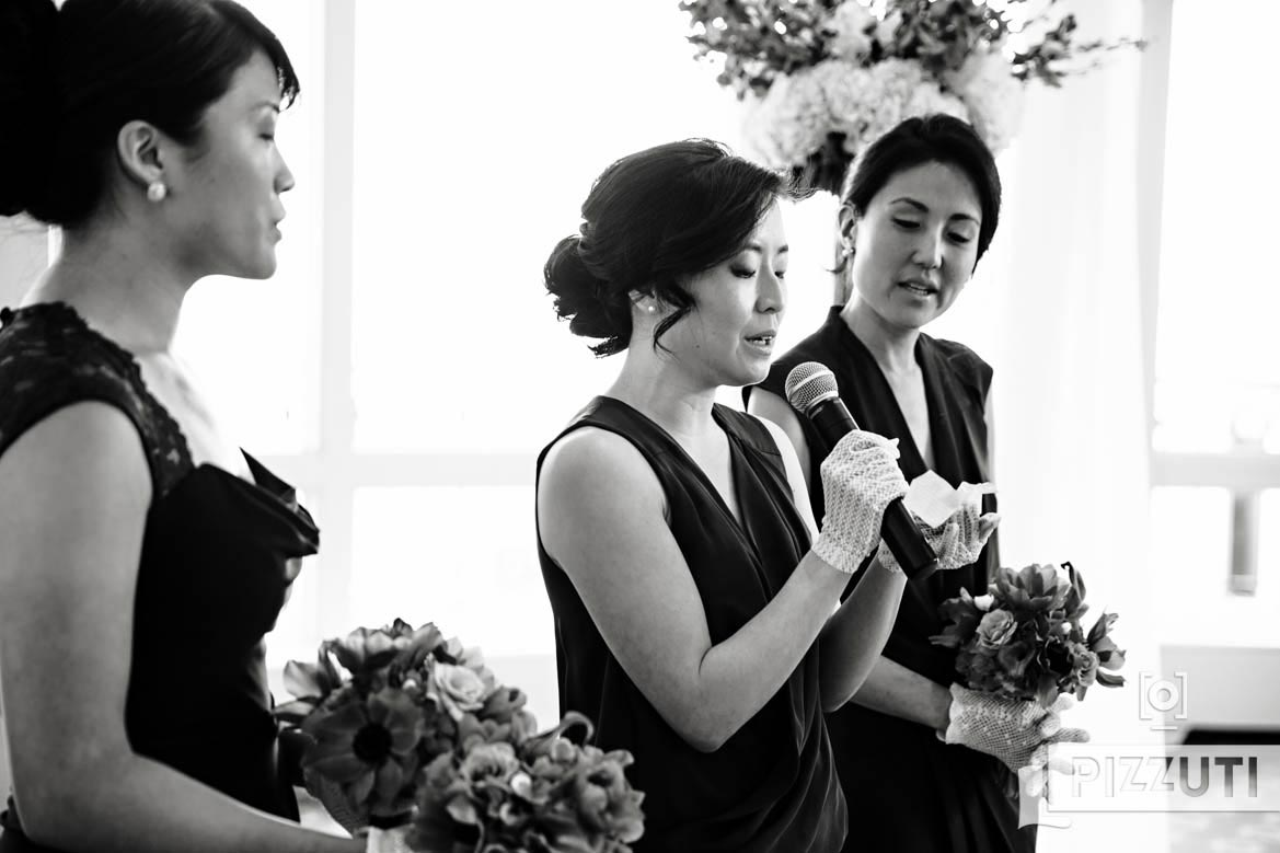 Bridesmaid Reading Wedding Ceremony