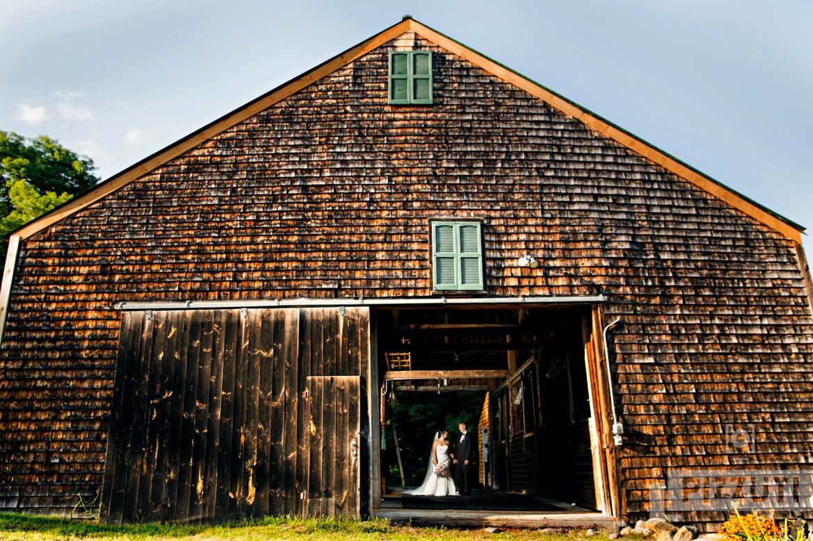 New Hampshire Farm Wedding Barn Rustic