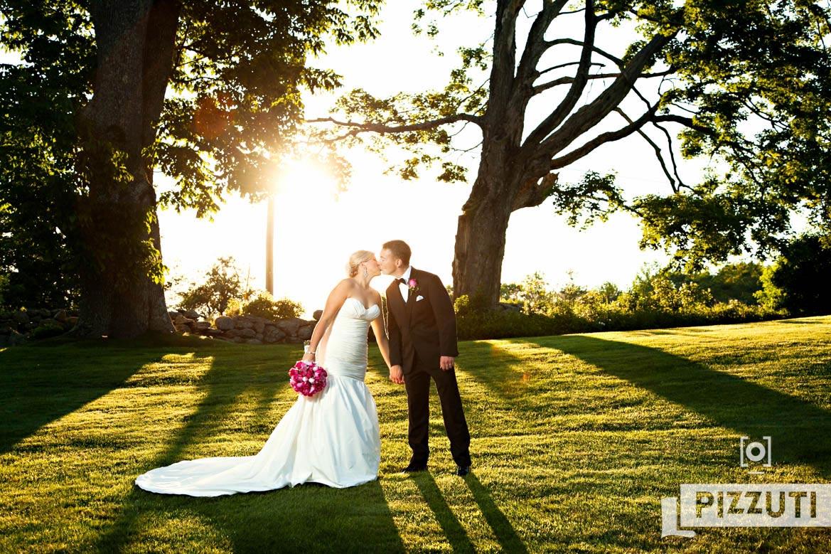 couple posing on their wedding day