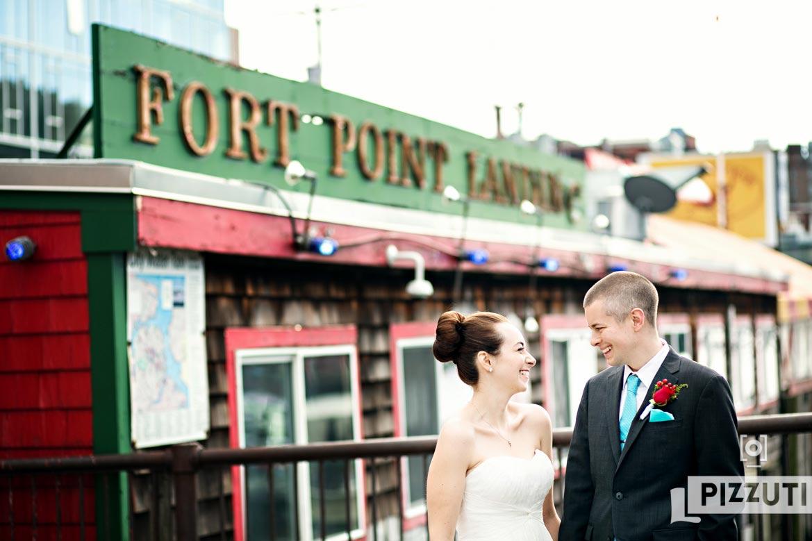 intimate boston wedding portrait
